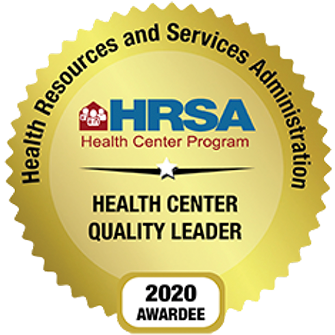 HRSA Health Center Quality Leader 2020 Awardee